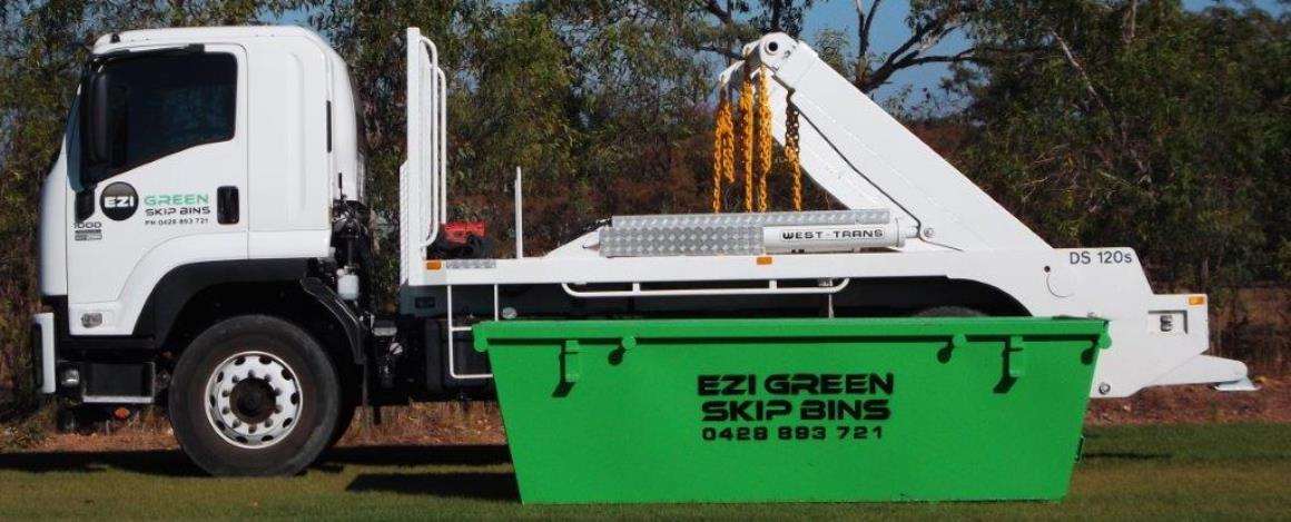 Ezi-green-Skip-Bins-Truck-and-6m-Cubic-Bin-Darwin